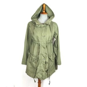 Gap Lightweight Hooded Parka Jacket Army Green S